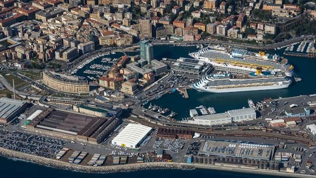 I lavori alla banchina crociere nel porto di Savona