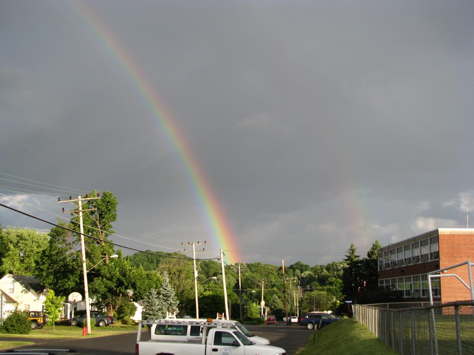 Terri S Terrifical Terrace Rainbows Big Girl And Day Old Balloons