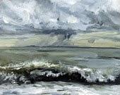Oil painting ocean
