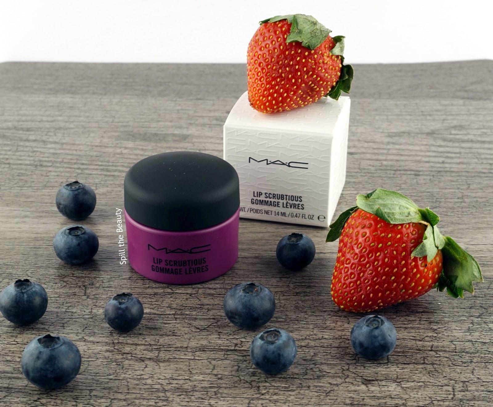 mac lip scrubtious summer berry review