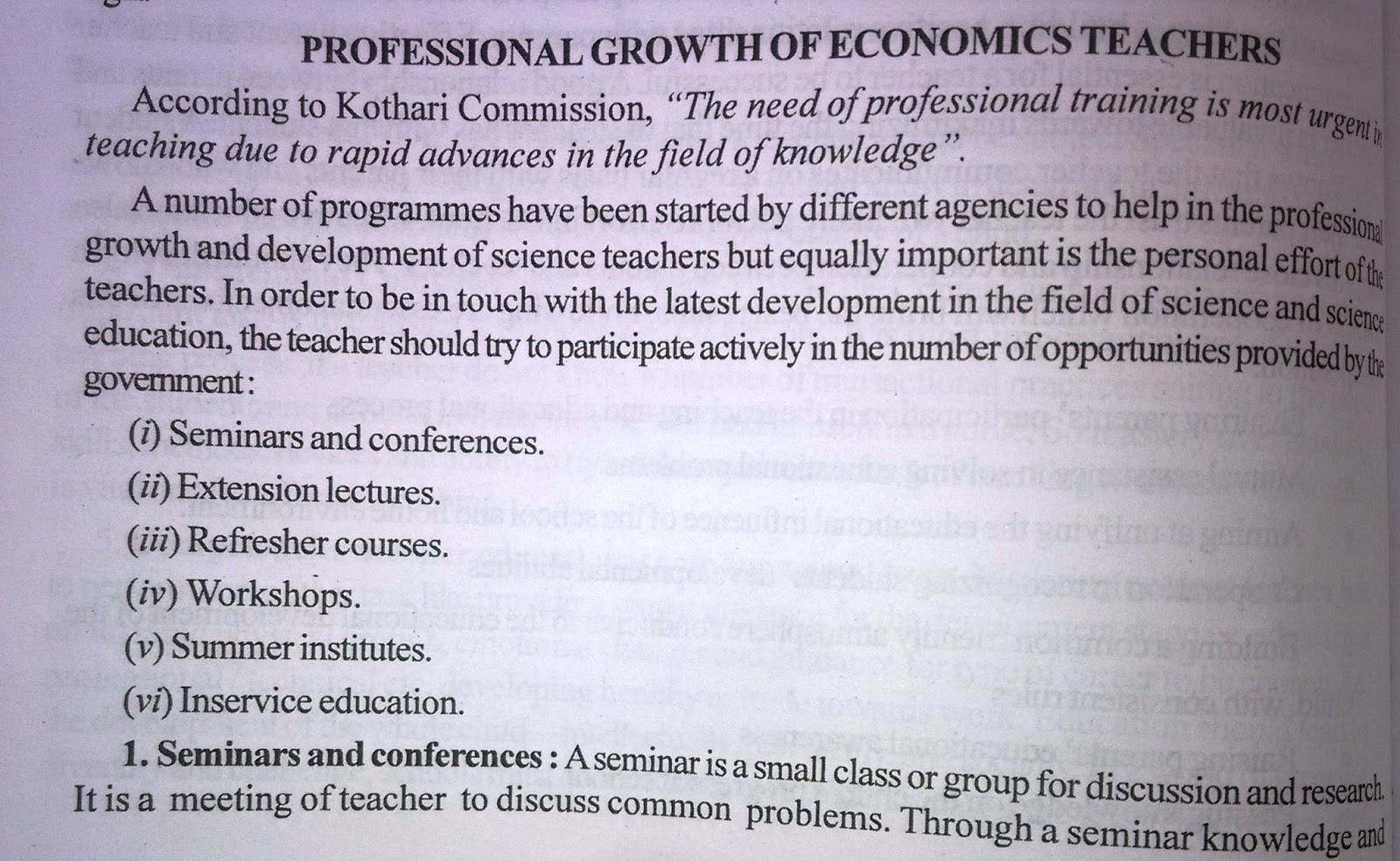 aims and objective of teaching of economics Vocational technical education and the achievement  context of national policy on education to reflect the goals/objectives of  economic growth of the nation.