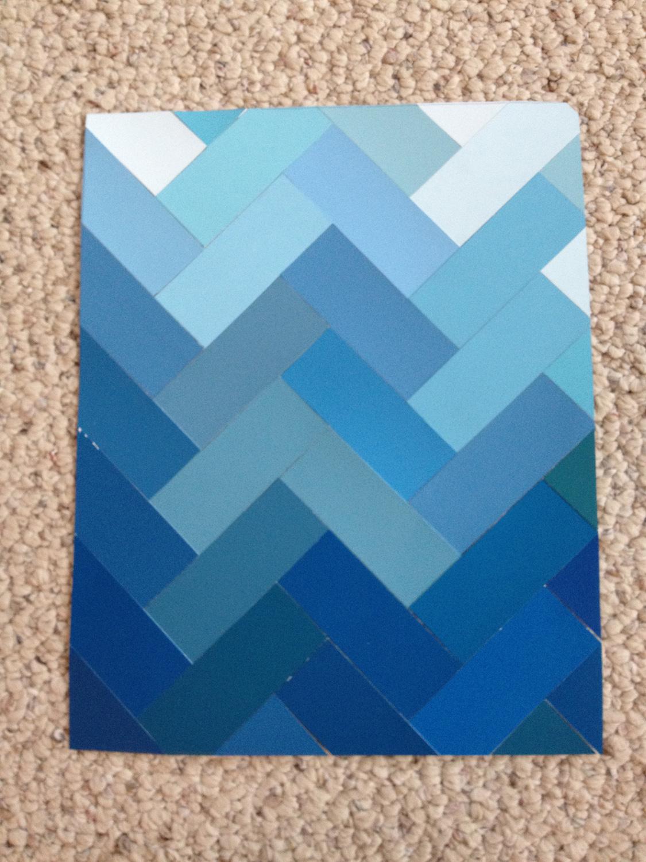 Quardecor Paint Chip Art Deep Blue Sea