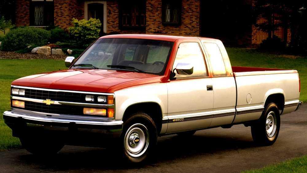 1988-1998 Chevrolet C//K Pickup Step Bumper,Black,Steel,w//Impact Strip,Stepside