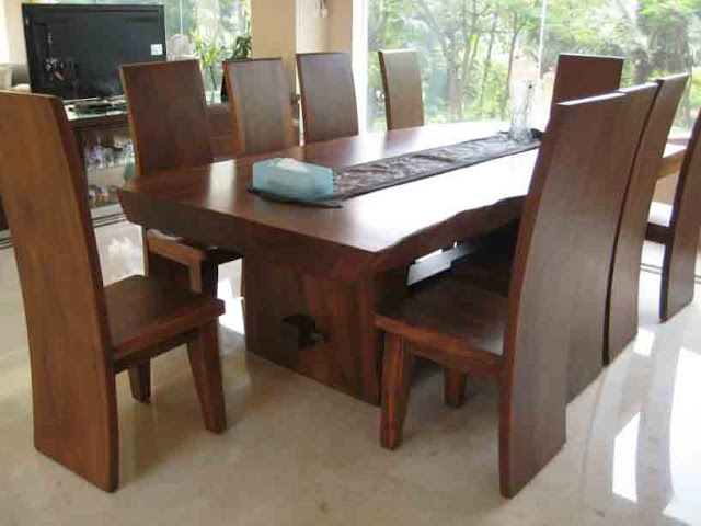 kursi makan kayu jati