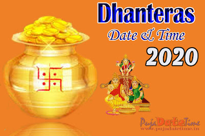 2020 Dhanteras Puja Date & Time in India