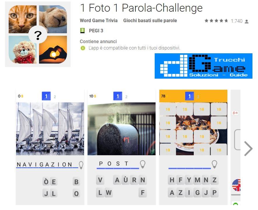 Soluzioni 1 Foto 1 Parola-Challenge | Tutti i livelli risolti con screenshot soluzione
