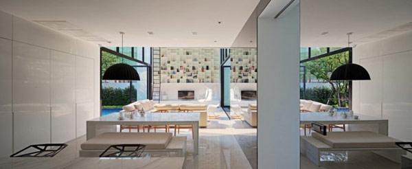 hogares frescos casa moderna en forma de l en bangkok