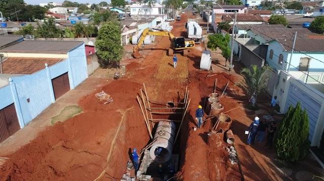 Anápolis: Prefeitura constrói 10 Km de galerias de águas pluviais