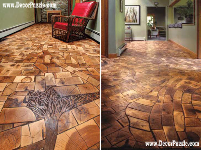 wooden oak flooring, unique flooring ideas, creative flooring, flooring options