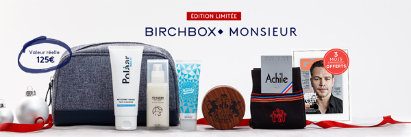Edition Limitée Birchbox Monsieur