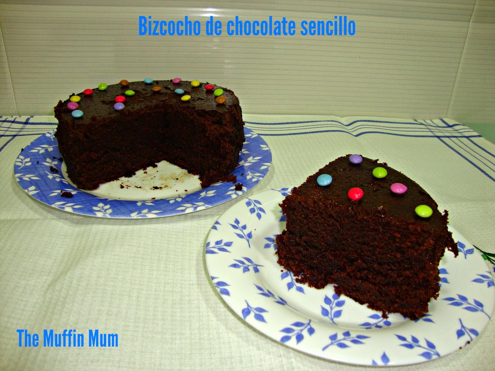 Bizcocho sencillo de chocolate