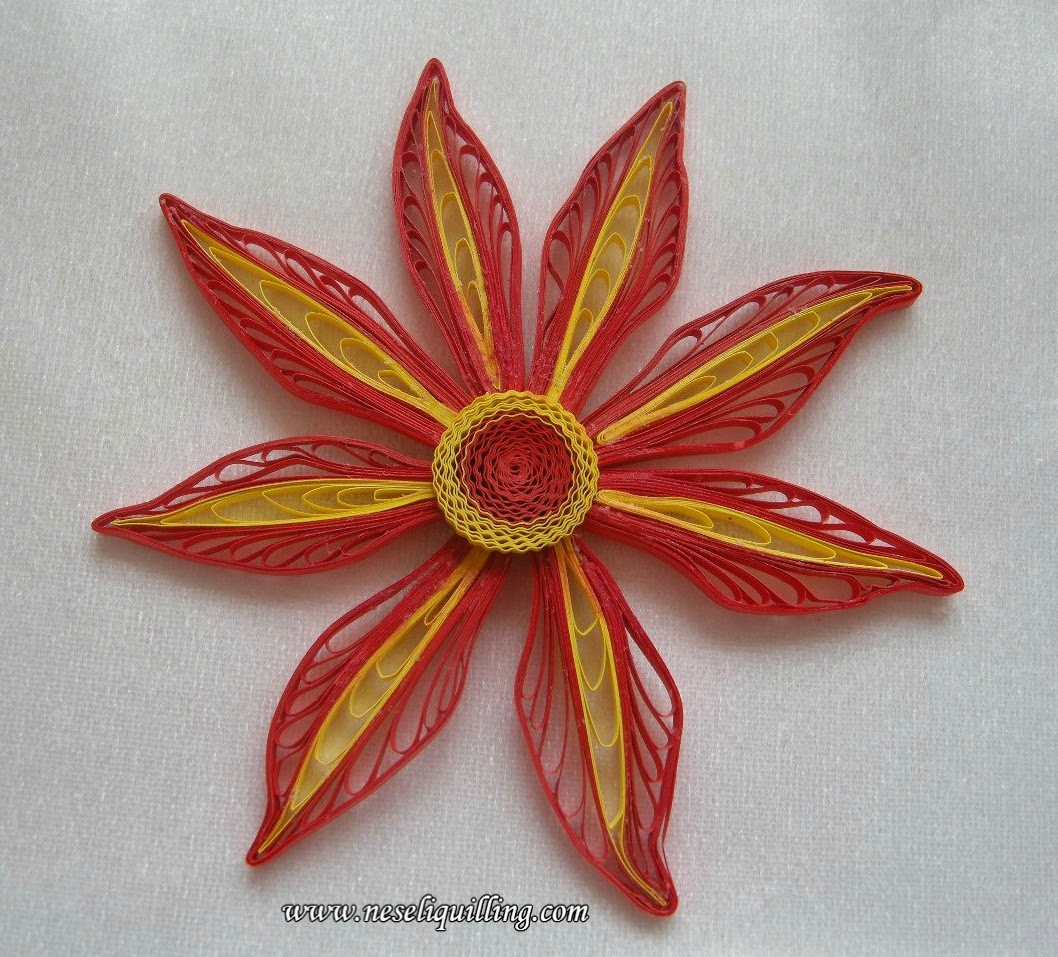 neseli quilling husking technique flower