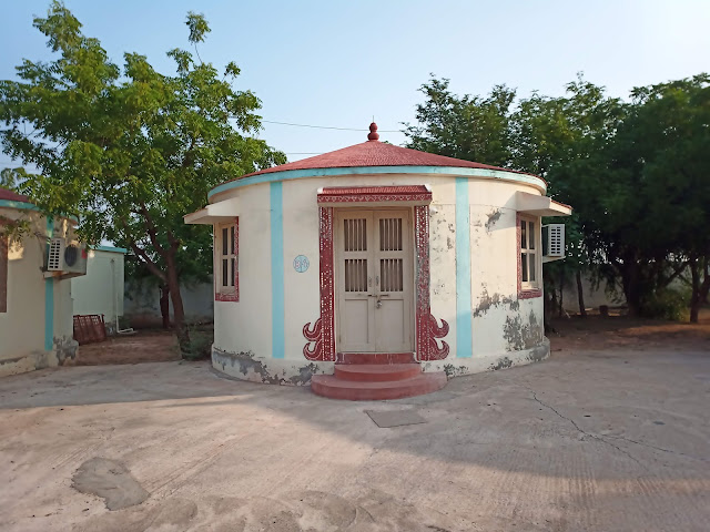 A small circular hut for accommodation from Dholavira Tourism Resort