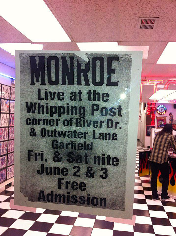 Monroe flyer for The Whipping Post