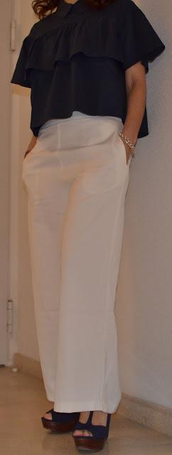 Pantalón de pata ancha de Mais Moda