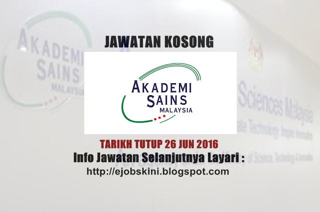 Jawatan Kosong Akademi Sains Malaysia (ASM)