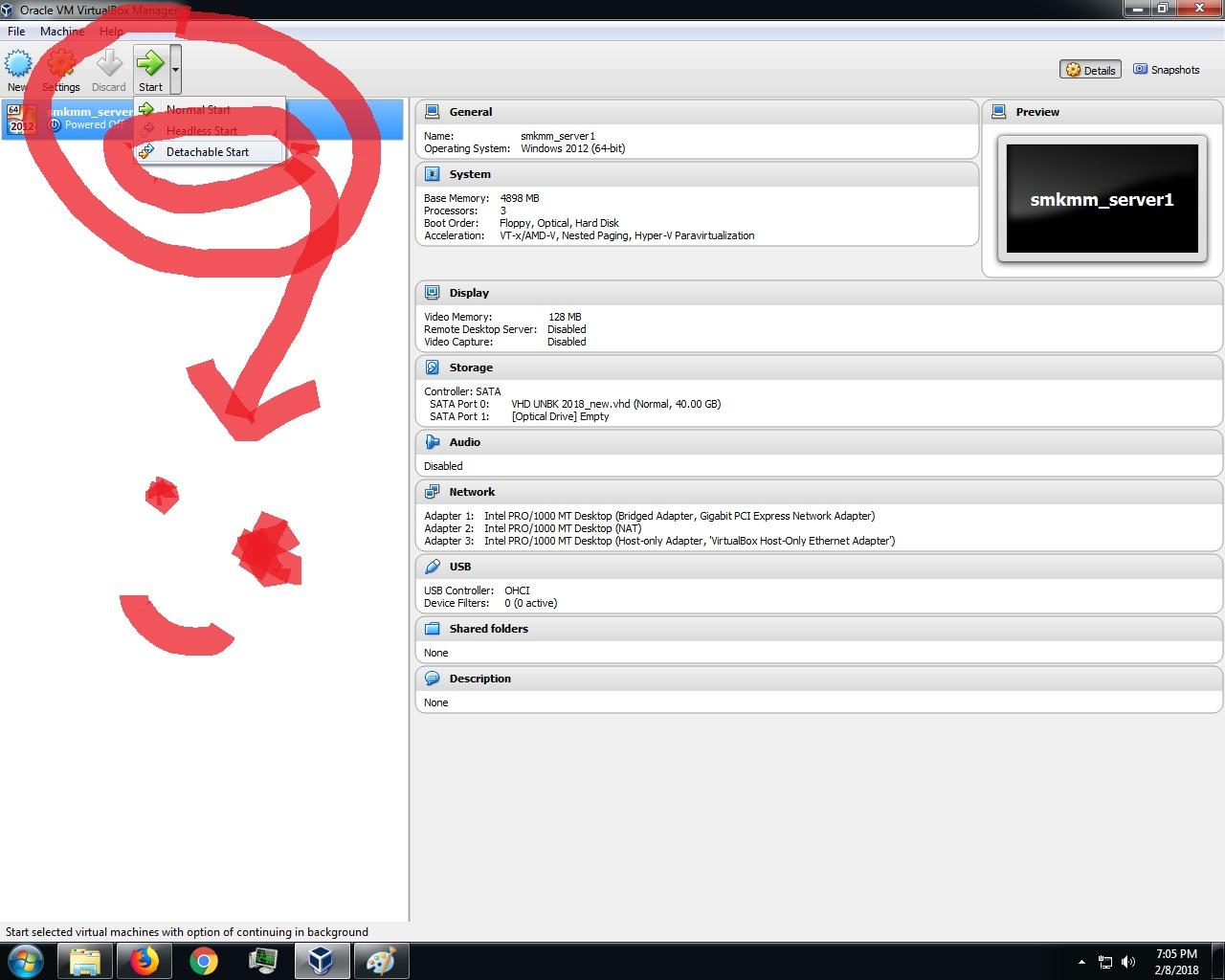 virtualbox detachable start