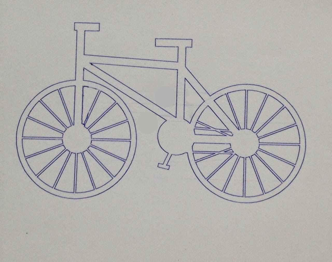 Sketch pen, holder, DIY, do it yourself, bike