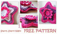 free crochet patterns, how to crochet, stars, starbursts, starshine, swirls, christmas decos,