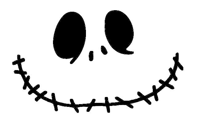 It's just an image of Peaceful Jack Skellington Pumpkin Stencil Printable