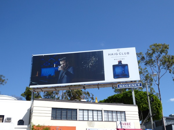 David Beckham Haig Club Scotch Whisky billboard