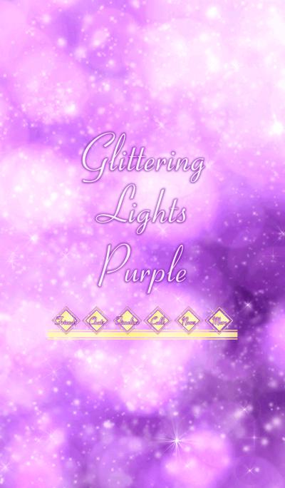 Glittering Lights Purple