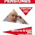 IU-Mérida organiza un acto público en defensa del sistema público de pensiones, con la participación de Cayo Lara.