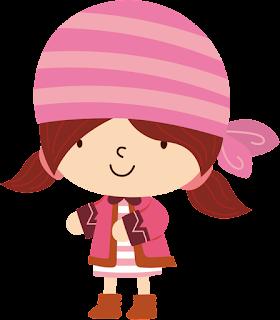 niña pirata para imprimir con pañuelo