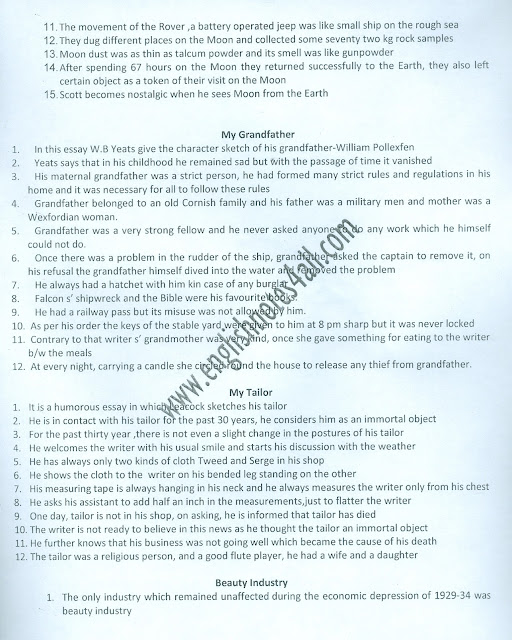 BA English modern essay