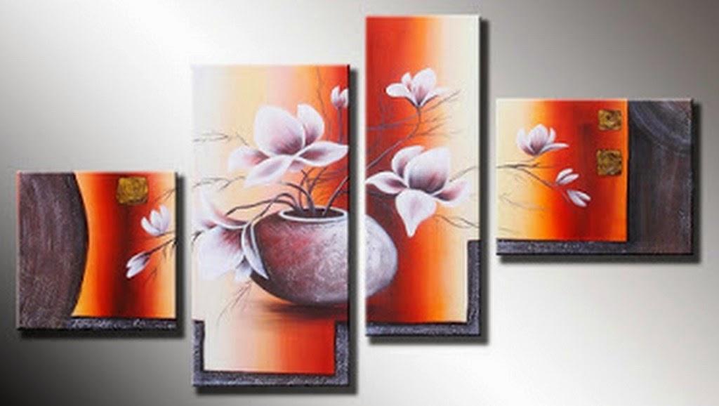 Cuadros modernos pinturas y dibujos cuadros tr pticos for Cuadros tripticos grandes