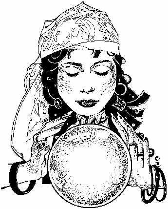 crystal ball coloring pages | Mad Moose Mama: Tarot Readings, Medium Readings ...