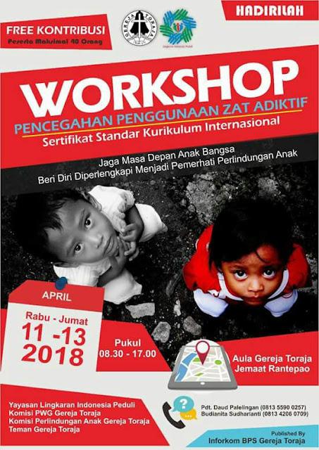 Narkoba Semakin Mengancam, Gereja Toraja Gelar Workshop Pencegahan Zat Adiktif