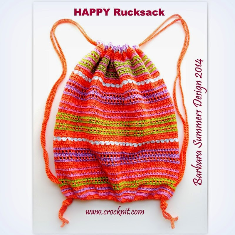 MICROCKNIT CREATIONS: HAPPY Rucksack - FREE Crochet PATTERN - PART 1