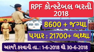 RRB Police constable 9739 bharti 2018 | RPF/ RPSF Constable & SI Recruitment 2018