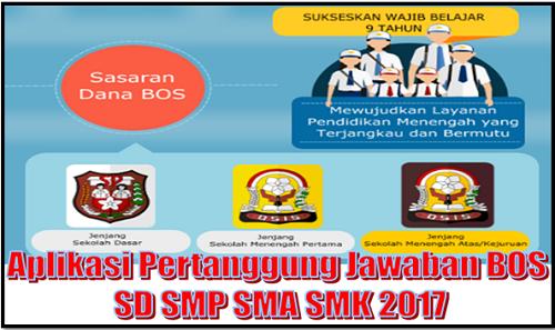 Aplikasi Pertanggung Jawaban BOS SD SMP SMA SMK 2017
