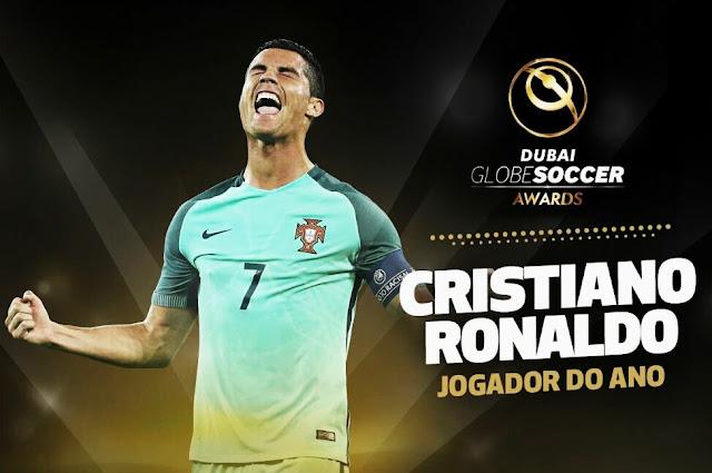 Cristiano Ronaldo é o vencedor do Globe Soccer 2016