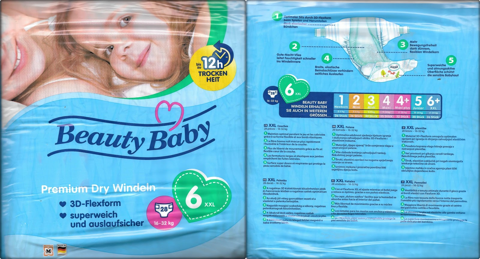Windeln Größe 7 Jennifers Windeltest Produkttest Beauty Baby Premium Dry