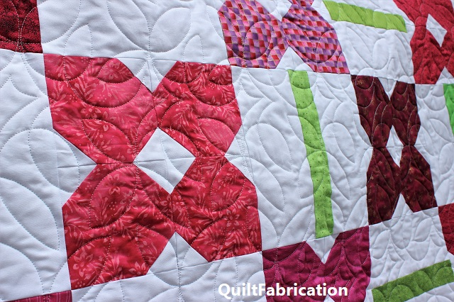 Petunia Patch #1 quilting closeup