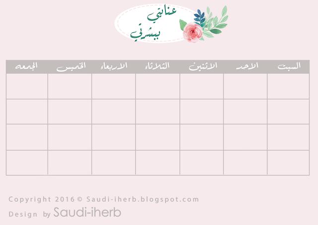 جدول منظم متابعة روتين العناية بالبشرة