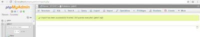Import database di xampp
