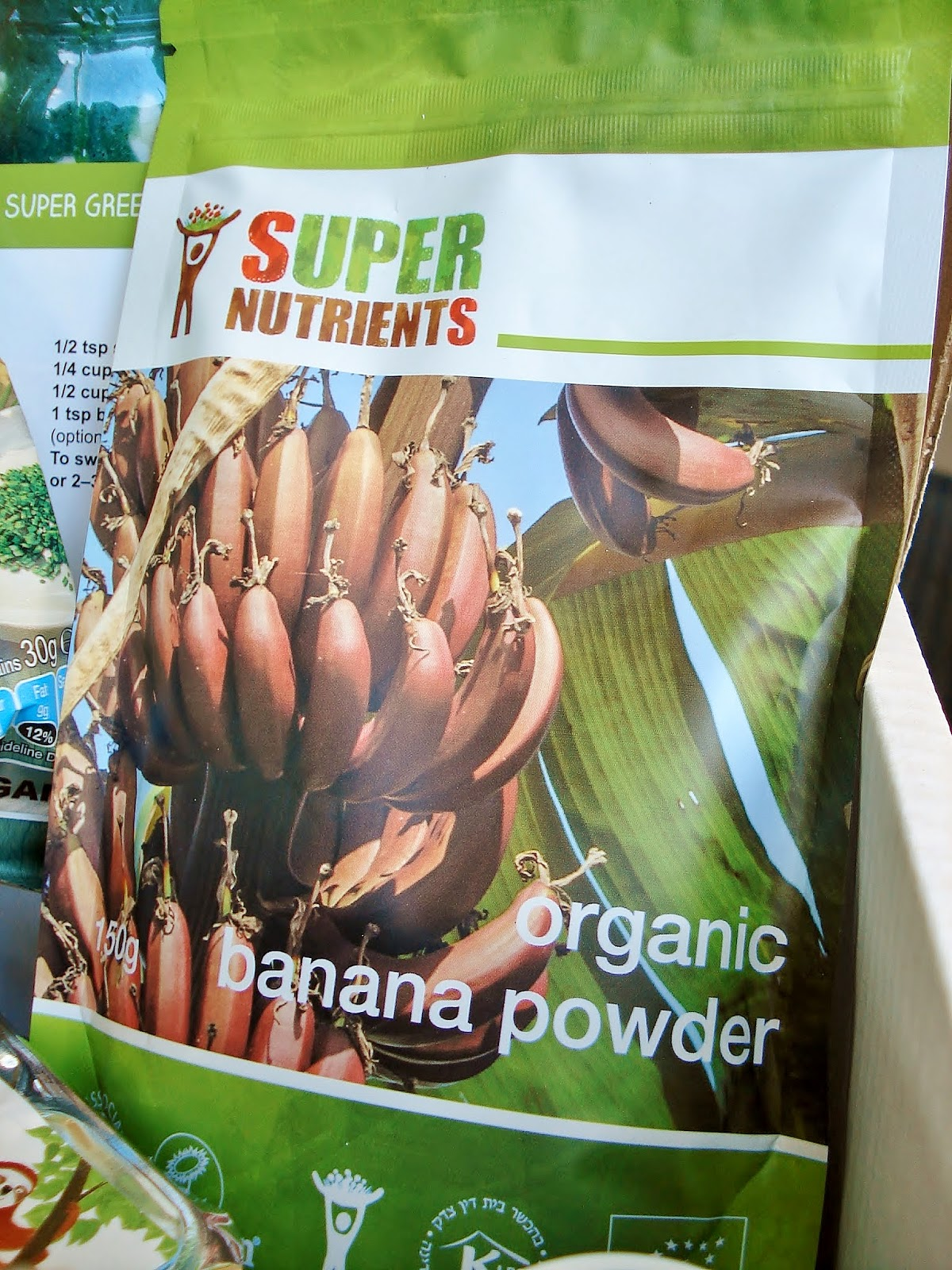 Packet of Super Nutrients banana powder