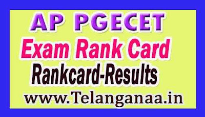 AP PGECET Results  Exam Rank Card