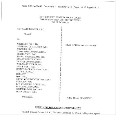 Patent Troll Sues Nintendo, Walmart, Best Buy........and JJGames