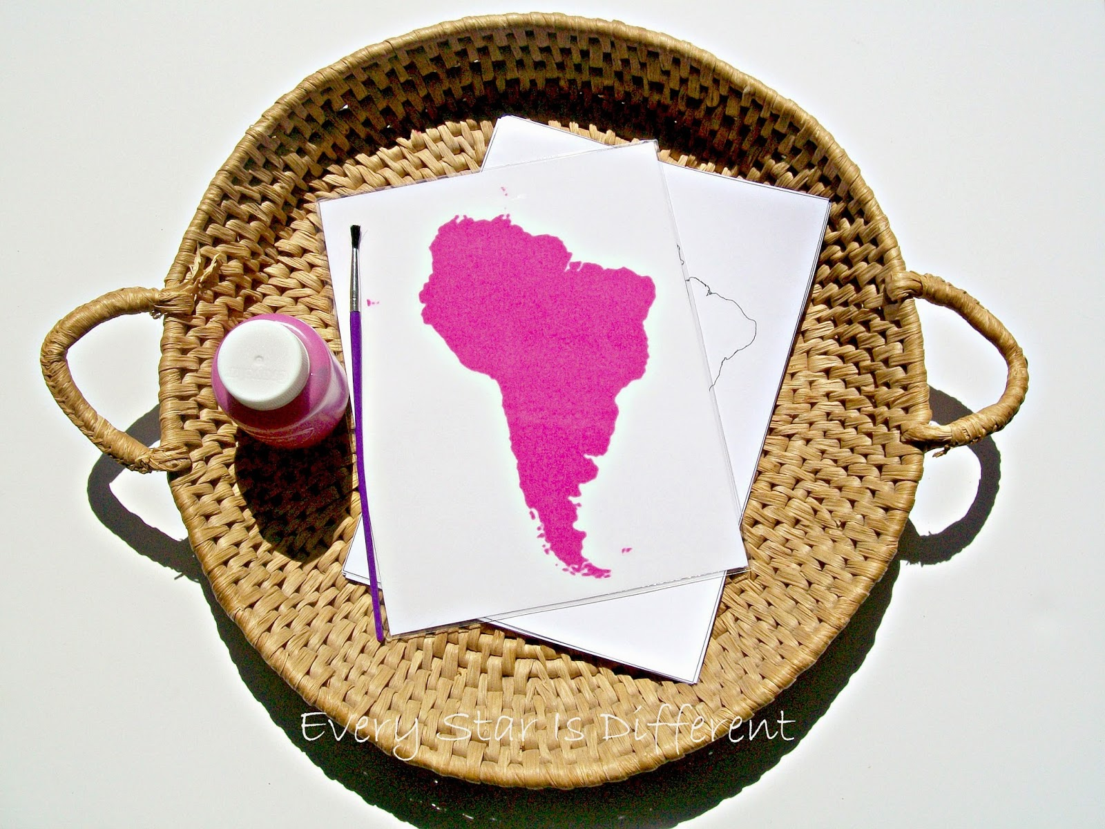 South America is Pink (free printable)