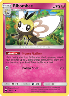 Ribombee Burning Shadows Pokemon Card