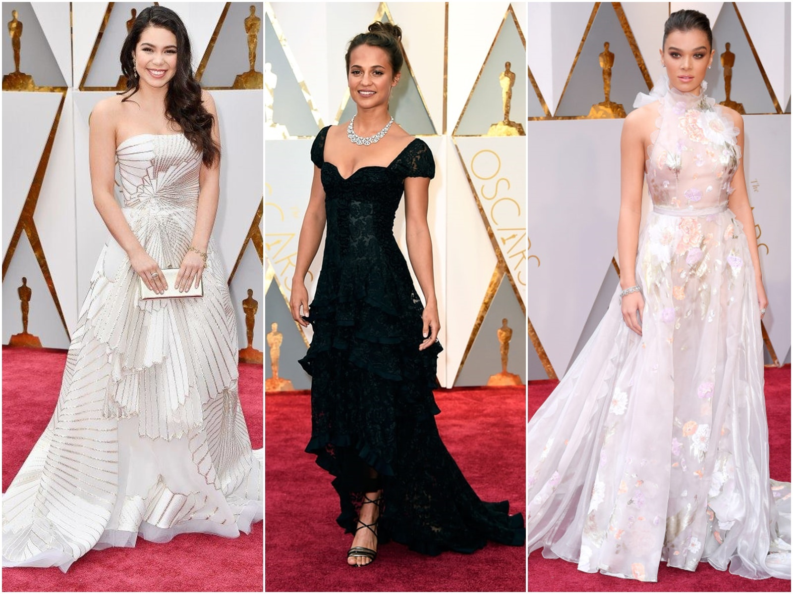 Oscary 2017 - zdobienia paznokci inspirowanie sukniami z czerwonego dywaniu