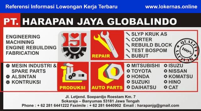 Peluang Kerja di PT Harapan Jaya Globalindo (Lulusan SMK/SMA/Setara/D3)