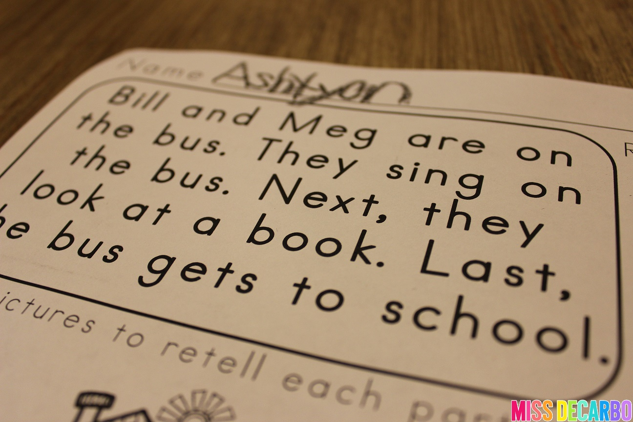 3 Ideas To Increase Retelling Skills In Young Readers - Miss DeCarbo [ 864 x 1296 Pixel ]