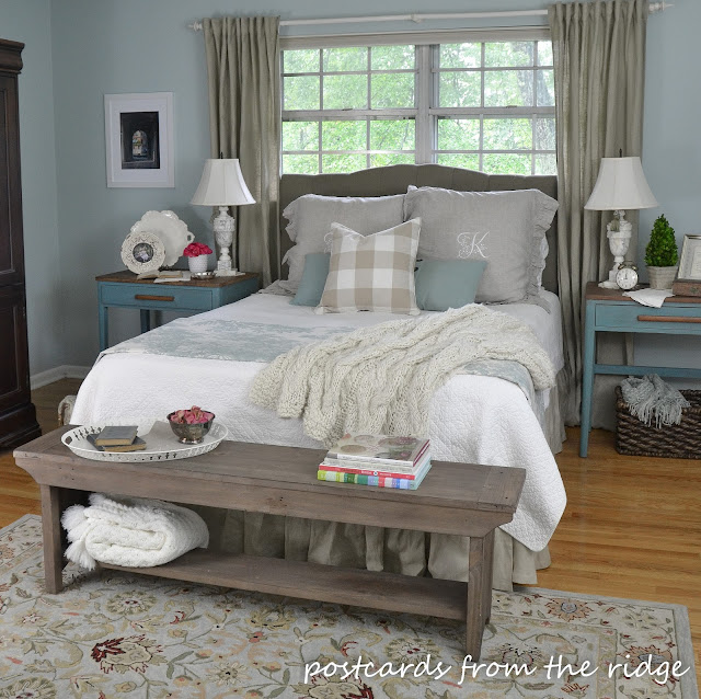 Bedroom inspiration and affordable headboards postcards for B m bedroom curtains