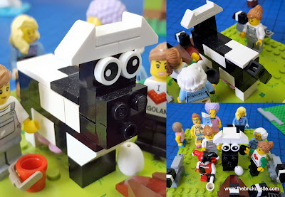 LEGO cow and Maids milking 12 Days Of Christmas